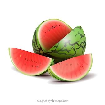 Wassermelone im realistischen stil