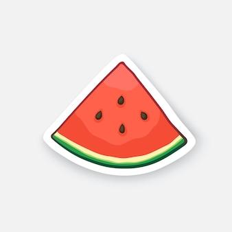 Wassermelone kleine scheibe bio-lebensmittel gesundes vegetarisches essen vektor-illustration