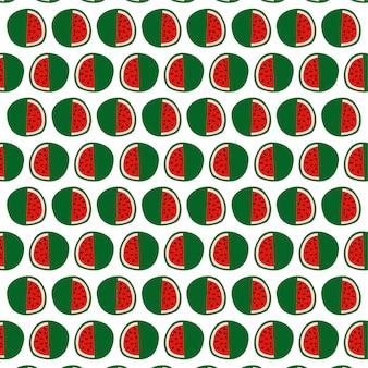 Wassermelone mit samen nahtlosen musterhintergrund