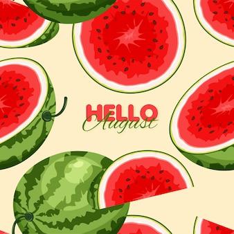 Wassermelone nahtlose muster sommer