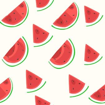 Wassermelone-nahtloses muster
