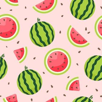Wassermelone nahtloses muster