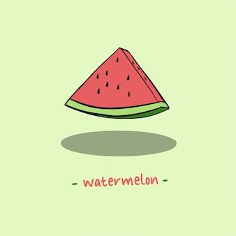 Wassermelone-scheibe-symbol-frucht-vektor-illustration