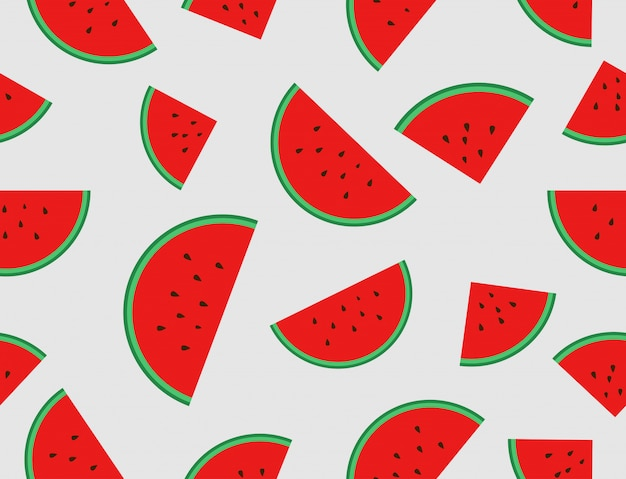 Wassermelone schneidet nahtloses muster
