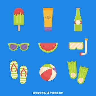 Wassermelone und andere sommerobjekte