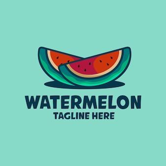 Wassermelonen-karikaturillustration