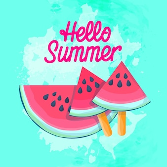 Wassermelonen-scheiben-eiscreme-saftige wassermelone