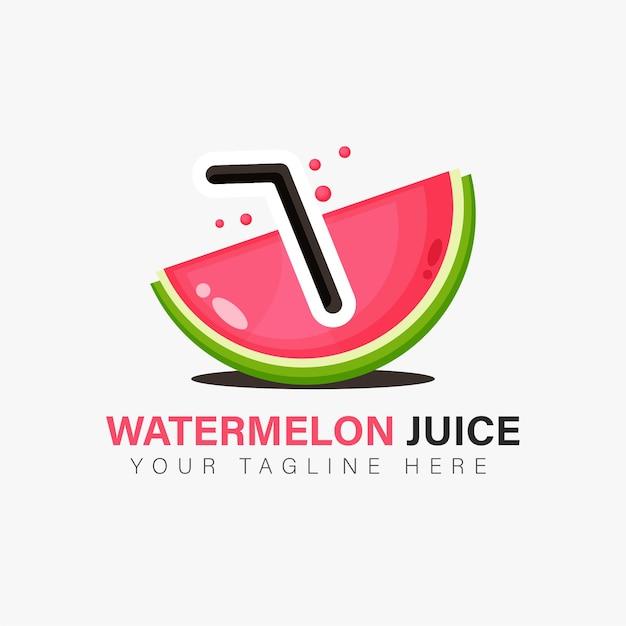 Wassermelonensaft logo design