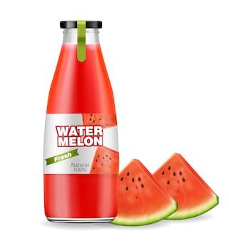 Wassermelonensaftflasche