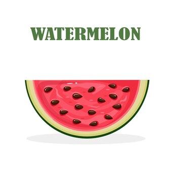 Wassermelonenscheibe mit schale und samen