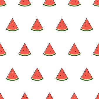 Wassermelonenscheibe nahtloses muster