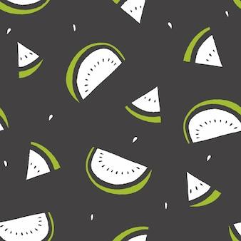 Wassermelonenscheibe-sommermuster
