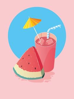 Wassermelonenscheibe