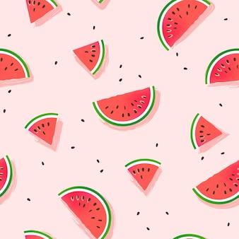 Wassermelonenscheibenmuster.