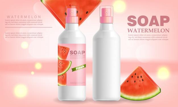 Wassermelonenseife und lotion banner