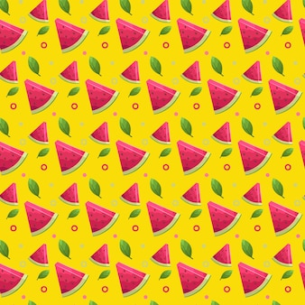 Wassermelonensommer nahtloses muster