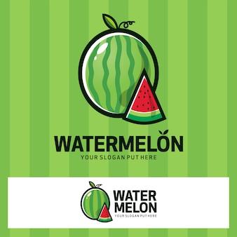 Wassernelonen-frucht-logo