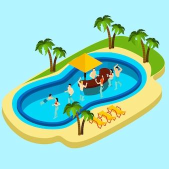 Wasserpark und freunde illustration