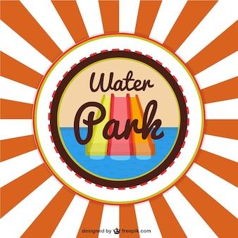 Wasserpark-vektor-hintergrund