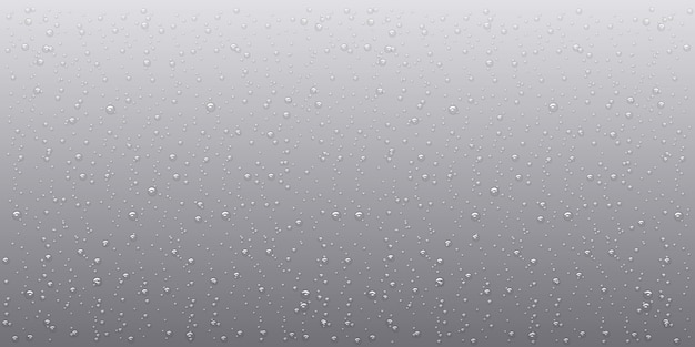 Wasserregen fällt, realistischer stil, vektorelemente, hintergrund von wassertropfen