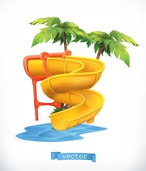Wasserrutsche 3d