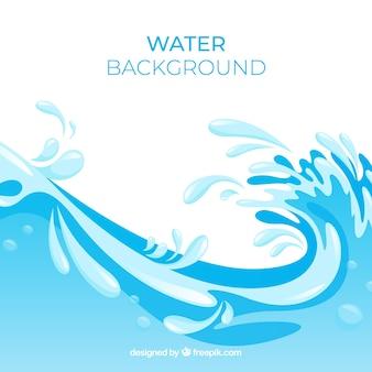 Wasserspritzenhintergrund in der flachen art