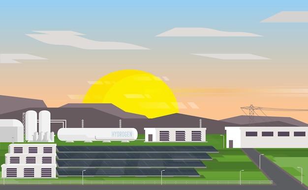 Wasserstoff-mikronetz mit solarzelle