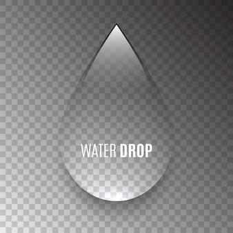 Wassertropfen auf transparentem hintergrund. klare flüssigkeit.