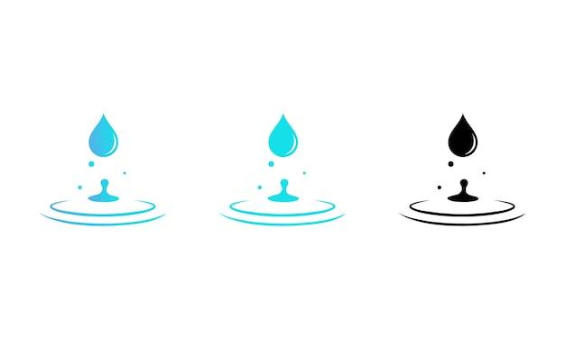 Wassertropfen-icon-set. vektor-eps 10. getrennt auf weißem hintergrund.