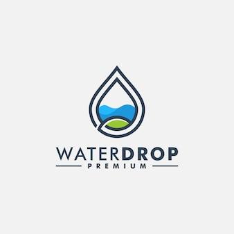 Wassertropfen logo vorlage symbol logo