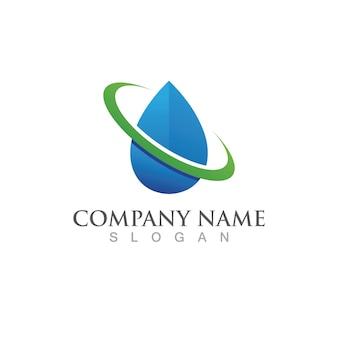 Wassertropfen logo vorlage vektor-illustration design
