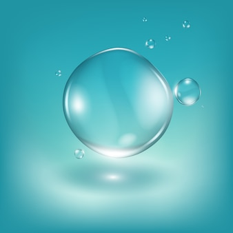 Wassertropfen realistische illustration.