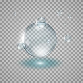Wassertropfen realistisches illustrationsdesign