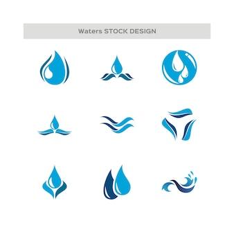 Wassertropfen und wave-logo