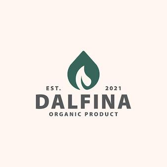 Wassertropfenblatt-logo-vorlage