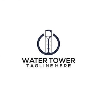 Wasserturm-logo-konzept