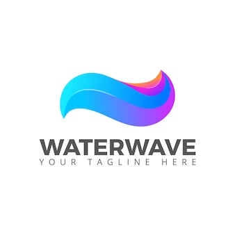Wasserwelle meer ozean fließen logo vektor