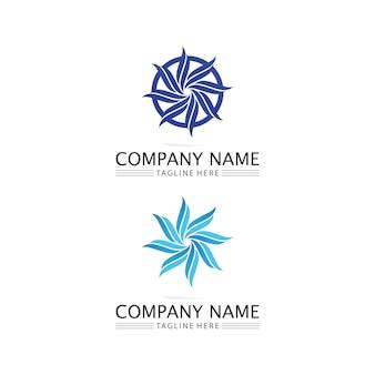 Wasserwelle symbol vektor illustration design logo