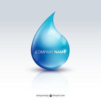 Water drop logo Premium Vektoren