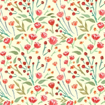 Watercolored floral background