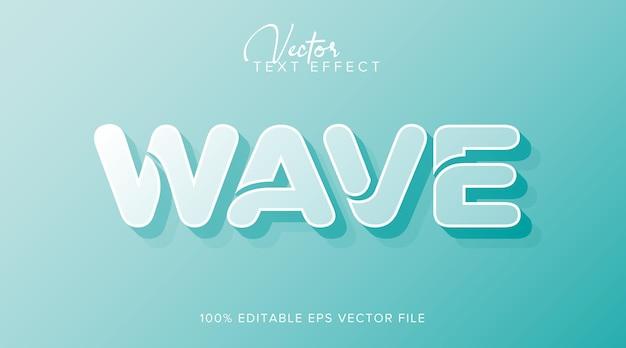 Wave 3d bearbeitbarer textstileffekt