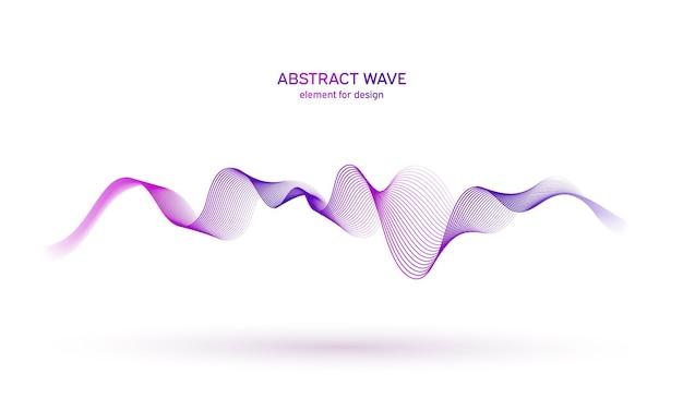 Wave-equalizer-element für das design.