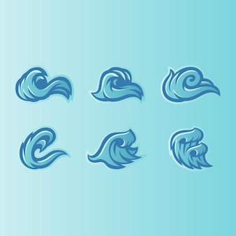 Wave icons logo design