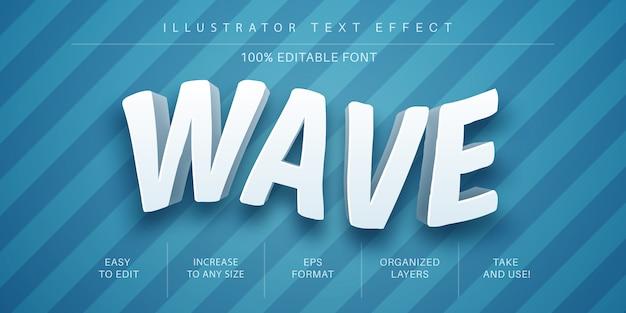 Wave-text-effekt-schriftstil