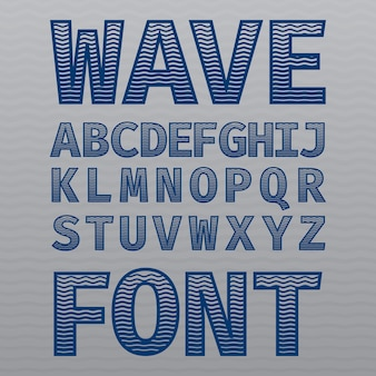 Wave vintage schriftplakat