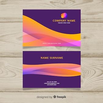 Wave visitenkartenvorlage