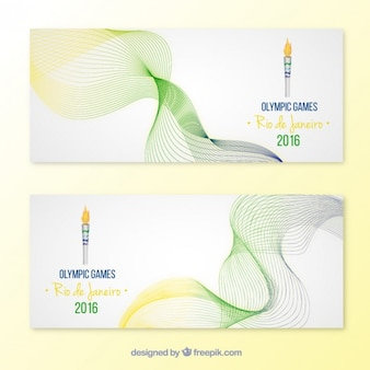 Waves banner der olympischen spiele