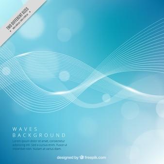 Waves blau bokeh hintergrund