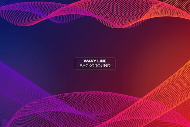 Wavy lane gradient abstract hintergrund blau und orange