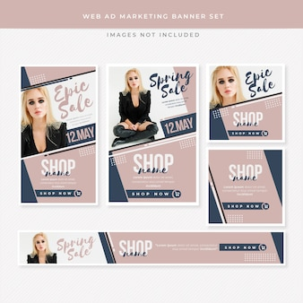 Web ad marketing banner set